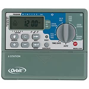 Orbit 57161 Sprinkler System 6-Station Standard Indoor Timer (Discontinued by Manufacturer)