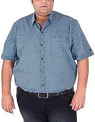 Xmex Men's Cotton Shirt (KR-HSECOL.BLUE, Light Blue, XXXXX-Large)
