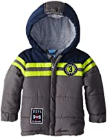 US Polo Association Baby Boys' Three Toned Puffer Jacket with Hood
