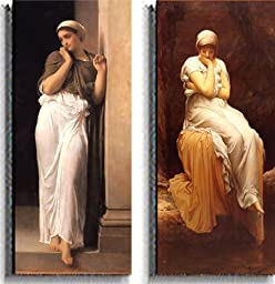 Nausicaa and Solitude by Leighton 2-pc Premium Stretched Canvas Set (Ready-to-Hang)