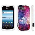 DuroCase ® ZTE Valet Z665C / ZTE Director N850L / ZTE Fury N850 Hard Case White - (Unicorn Galaxy)