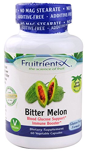 Fruitrients - Bitter Melon - Blood Glucose & Immune Support - 60 Vegetable Capsules