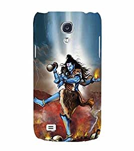 Angry Lord Shiva Tandav 3D Hard Polycarbonate Designer Back Case Cover for Samsung Galaxy S4