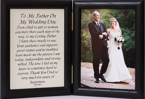 5x7 Hinged TO MY FATHER ON MY WEDDING DAY Poem ~Black Picture/Photo Frame ~ A Wonderful Gift Idea for the FATHER OF THE BRIDE!