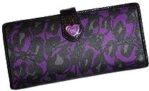 Hot Sale Women's Coach Daisy Ocelot Multi Card Checkbook Holder Wallet Purple Multi