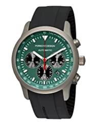 Porsche Design Men's 6612.10.55.1139 Dashboard P'6612 Titanium Green Dial Watch