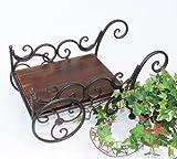 Charette à plantes Cuba HX12596 Brouette Charette Bac à fleurs Porte fleurs Taboure