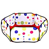 Durable Six Sided Hexagon Polka Dot Children Ball Play Pit Pool With Carry Tote Ball Sold Separately