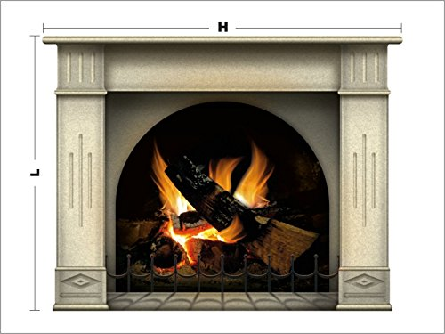N1239 Fireplace vinyl sticker, wallpaper decoration,Wall Stickers Graphics Vinyl Decal (Fireplace Border compare prices)