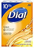 Dial Antibacterial Deodorant Bar Soap, Gold, 4 Ounce Bars, 10 Count (Pack of 3)