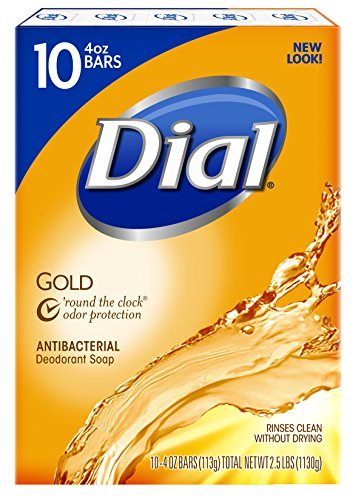 Dial Antibacterial Deodorant Bar Soap, Gold, 4 Ounce Bars, 10 Count (Pack of 3) (Liquid Hand Soap Dial compare prices)