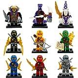 9pcs Ninja Ninjago TMNT Cole Jay Kai DIY Model Building Bricks Blocks Action Minifigures Kids Toys Gift Compatible With Lego