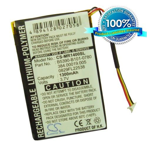 1300mAh Li-Polymer Battery for Magellan RoadMate 1400, 1430, 1412, 1445, 1445T