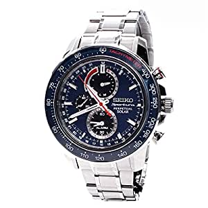 Seiko Mens SOLAR SPORTURA Analog Dress Watch