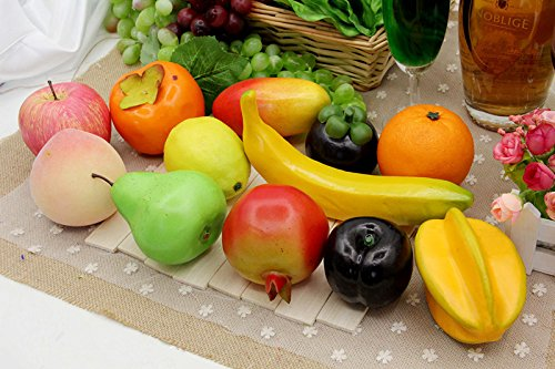 Cinra realistic artificial fruits mixed fake fruits model for Fake kitchen set