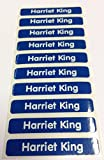 Easy2name Personalised Stick On Waterproof Name Labels (20, Blue)