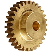 Brass Spur Gear, Brass, Inch, 24 Pitch