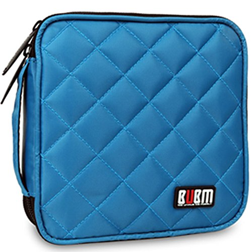 Best Price! 32 Capacity CD / DVD Wallet, 230D Space Twill Cover, Various Colors - Blue
