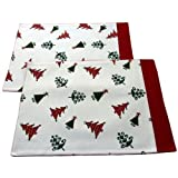 100% Cotton Christmas Vector Tree Pack of 2 Placemats
