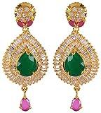 Violet & Purple Gold Alloy Dangle & Drop Earrings for Women (1000031559)