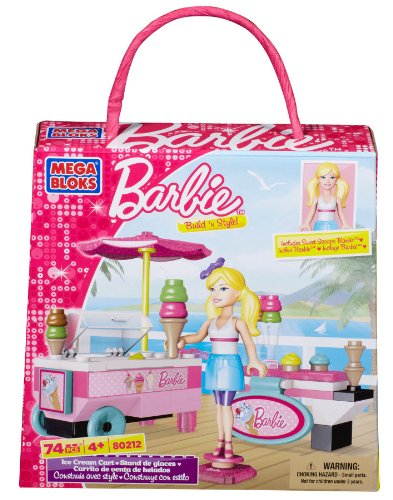 Mega Bloks Barbie Ice Cream Cart - 1