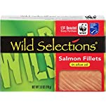 Wild Selections® Salmon Fillets in Olive Oil, 3.8 oz. tins inside cartonettes (12 pack)