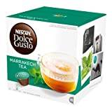 Nescafé Dolce Gusto Marrakesh Style Tea, Tee, Grüntee mit Pfefferminz, 16 Kapseln