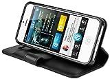 CAPDASE 日本正規品 iPhone5 Folder Case Sider Classic, Black フォルダーケース サイダー・クラシック, ブラック よこ開き ブックタイプ ケース (スタンド機能、カードホルダーつき) FCIH5-SC11