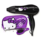 Hello Kitty 5248HKGU Lightweight 2000W Hair Dryer Gift Set