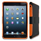 rooCASE eXTREME Hybrid (Black / Orange) TPU Shell Case for Apple iPad Mini 7.9-Inch Tablet