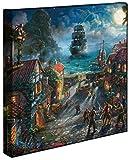 Pirates of the Caribbean Thomas Kinkade Disney 14x14 Gallery Wrapped Lithograph on Canvas artwork