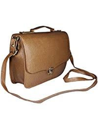 Chalissa Brown Classic Box Sling Bag For Women & Girls