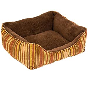 PETMATE 290529 Plush Lounger Espresso/Spa Teal for Pets, 20 by 17-Inch