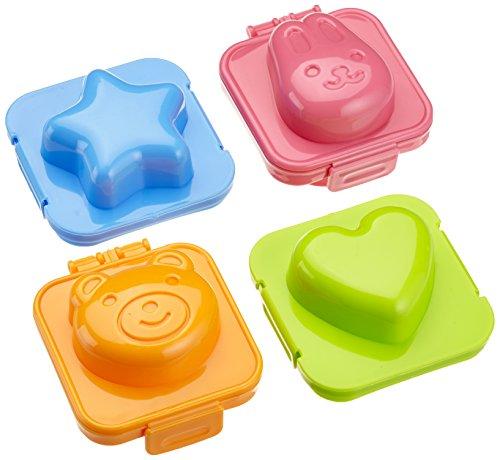 Wenko 8366500 Lot de 4 moules à œufs colorés en polypropylène 7,5 x 4,3 x 7,5cm