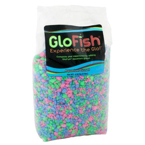 GloFish Aquarium Gravel, Pink/Green/Blue Fluorescent, 5-Pound Bag