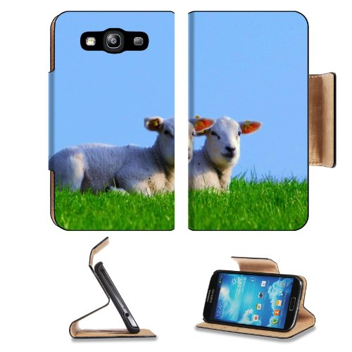 Baby Sheep Mutton Prairie Animals Samsung Galaxy S3 I9300 Flip Cover Case With Card Holder Customized Made To Order Support Ready Premium Deluxe Pu Leather 5 Inch (132Mm) X 2 11/16 Inch (68Mm) X 9/16 Inch (14Mm) Luxlady S Iii S 3 Professional Cases Access front-1045630
