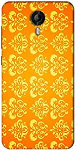 Snoogg Motif Yellow Shaded 2417 Designer Protective Back Case Cover For Micromax Canvas Nitro 3 E455