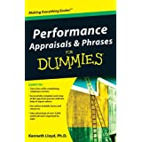 Performance Appraisals and Phrases For Dummies ~ Kenneth L. Lloyd