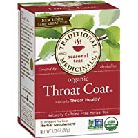 Organic Throat Coat Tea, Traditional Medicinals, 16 bags