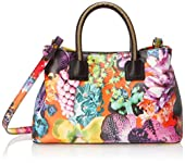 MILLY Tropical Orchid Small Tote Cross Body Bag