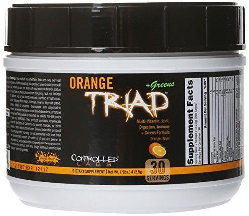 Controlled Labs Orange Triad Plus Greens, Orange, 412.5 Gram