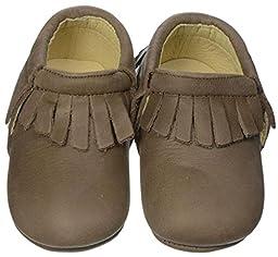 Old Soles Unisex Baby Fringe Bootie (Infant/Toddler) - Distressed Brown - 19 EU/4 US