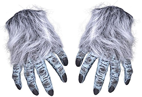 Unisex Grey Fake Hands With Hair Halloween Costume Fancy Dress Outfit