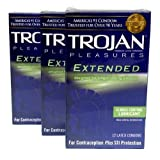 Trojan Extended Pleasure Premium Latex Condoms, Climax Control Lubricant , 36 condoms