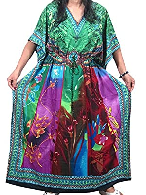 Womens Kaftan Evening Wear Green Blue Moroccan Caftan Abaya Dress Xxl