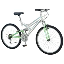 Pacific Girl's Chromium Full Suspension Bicycle 26Inch