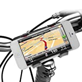 IKross Universal Bike Mount Handlebar Holder for HTC One M8, One Mini 2, Sony Xperia Z2, Motorola Moto G, Moto E, Moto X, LG G3, G2 mini, Nexus 5, Nokia Lumia 1520 /Lumia 520, Apple iPhone 5S, iPhone 5C and Other Smartphone Cellphone and GPS