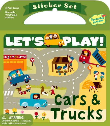 Peaceable Kingdom / Let'S Play! Cars And Trucks Reusable Sticker Set front-863266