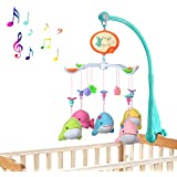 [ New Version ] ZhiZhu® Crib Holder Musical Bedding Cradle Mobiles Stand with Toys