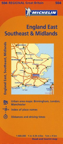 England, Southeast, Midlands & East Anglia Map 504 (Maps/Regional (Michelin))